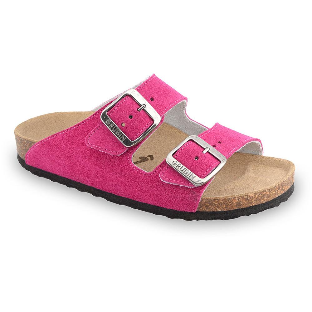 ARIZONA női papucsok - rostbőr (36-42) - rózsaszín, 41