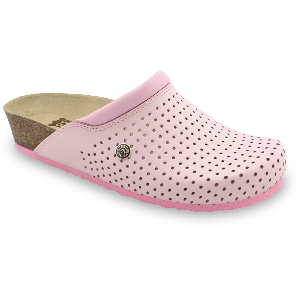 BEOGRAD bőr női zártpapucsok (36-42) - rózsaszín, 36