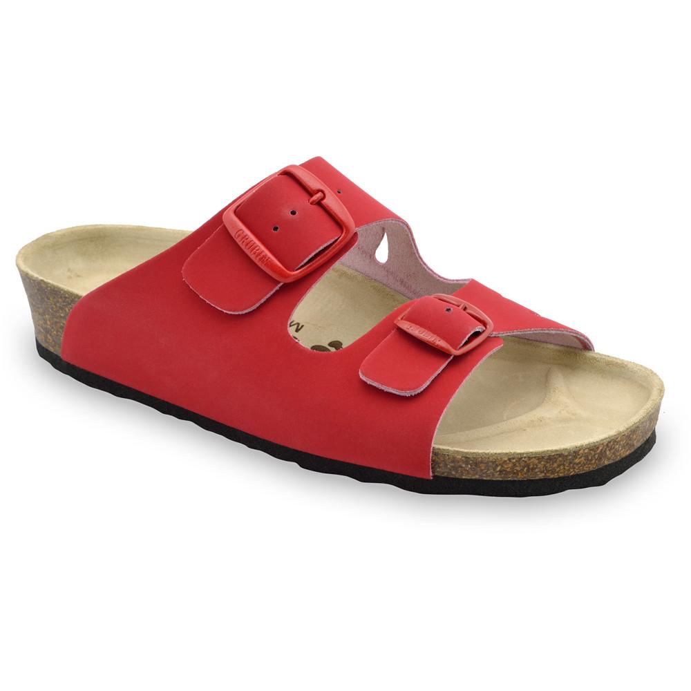 KAIRO női papucsok - bőr (36-42) - piros, 36