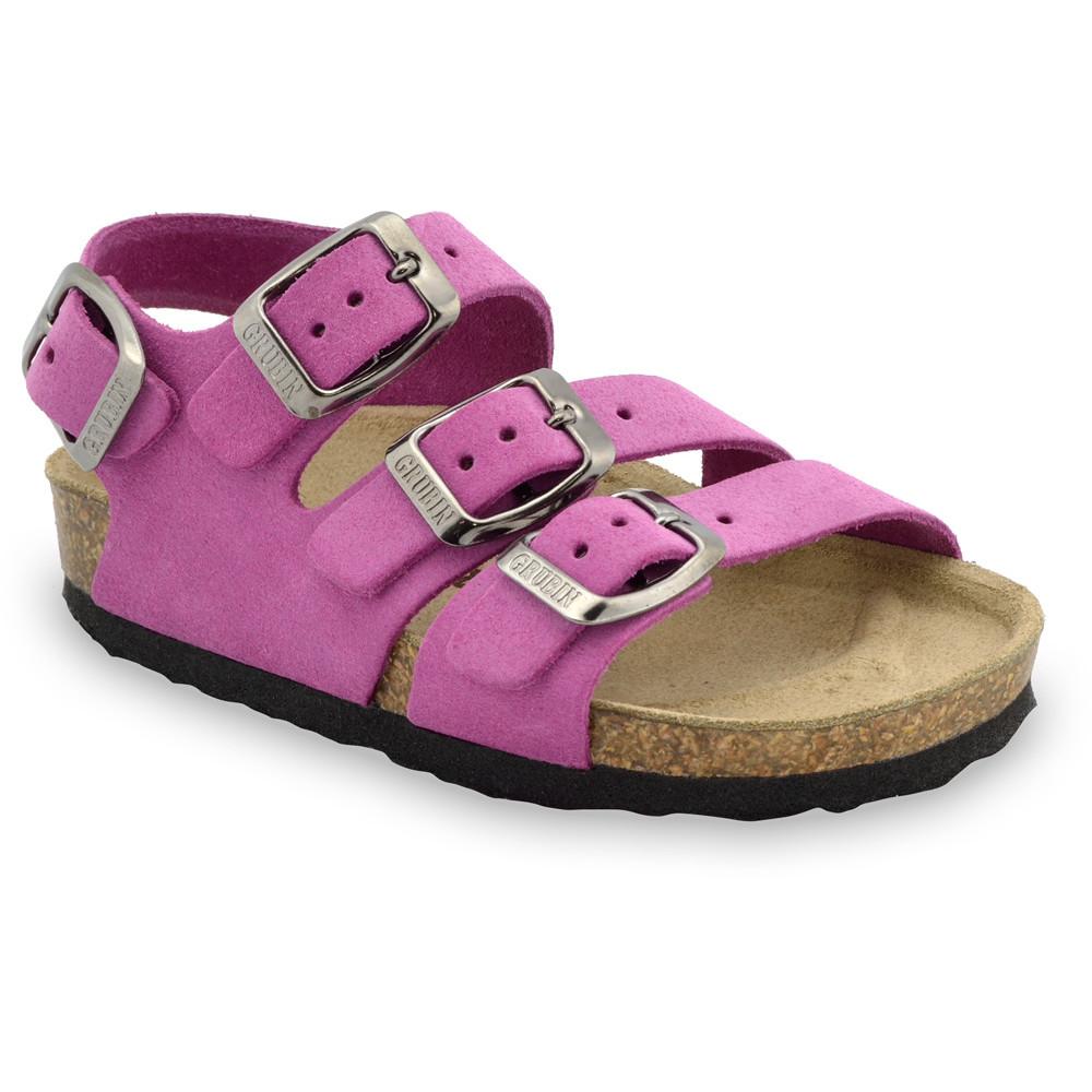 CAMBERA bőr gyerek szandálok (23-29) - rózsaszín, 26