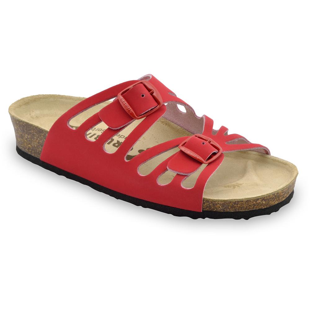 DERBY női papucsok - bőr (36-42) - piros, 37
