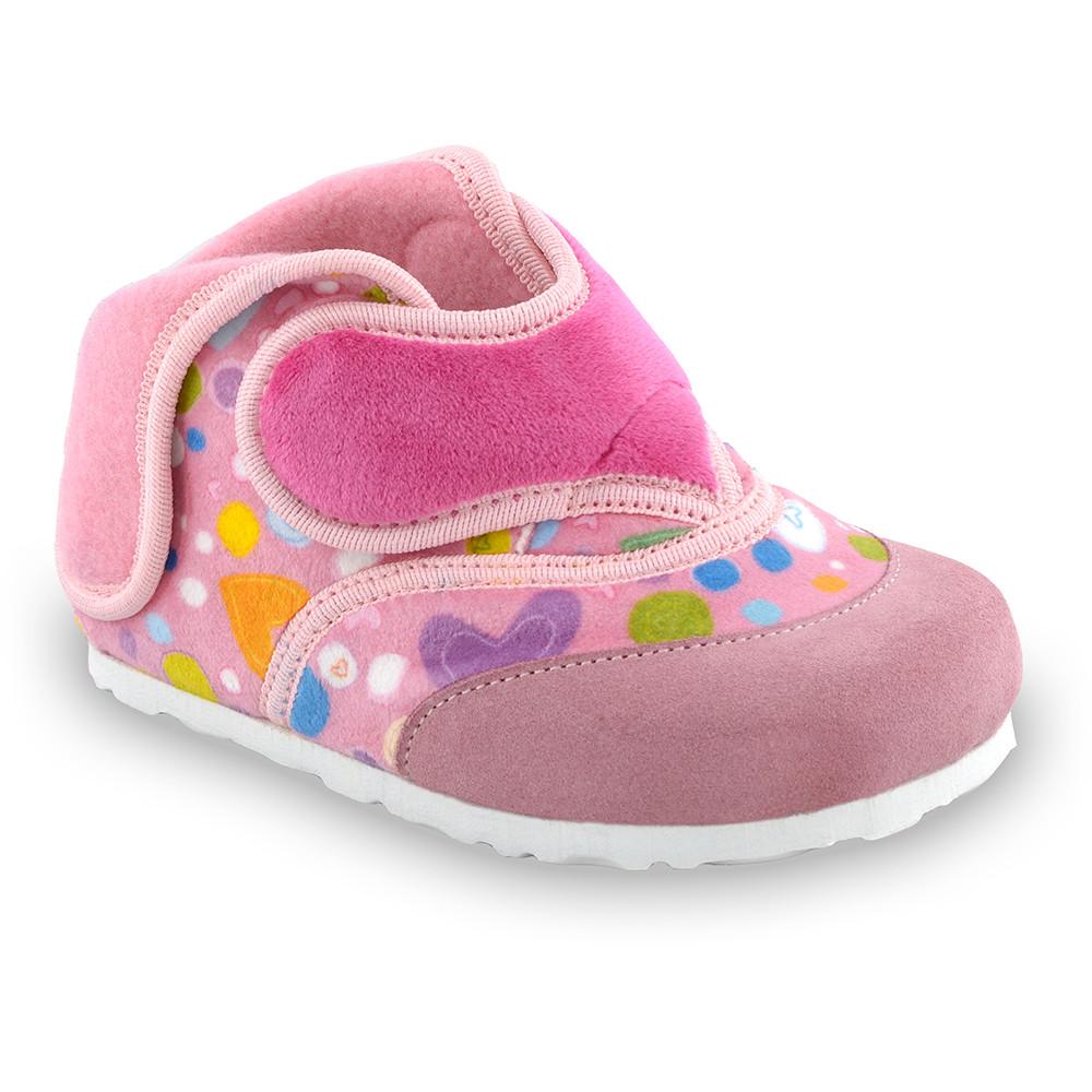 HEART gyerek téli házicipők - plüss (23-30) - rózsaszín, 27