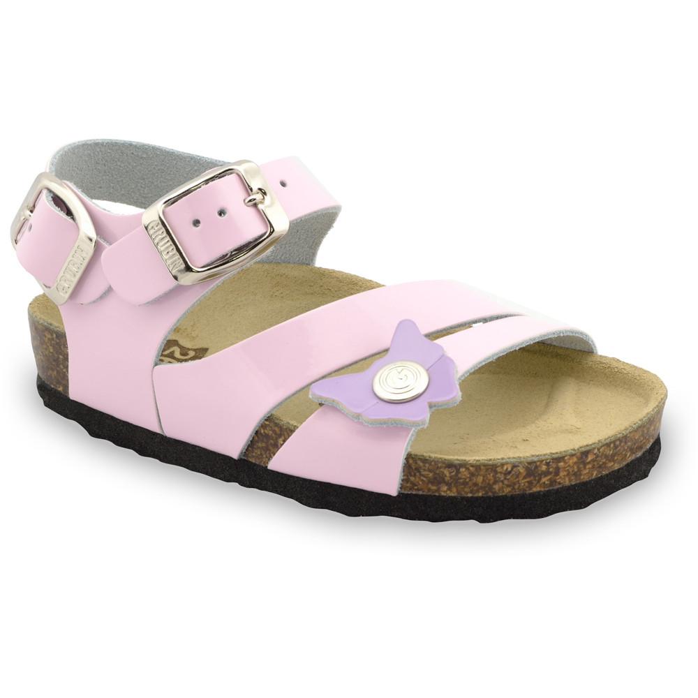 KATY gyerek szandálok - bőr (30-35) - rózsaszín, 31