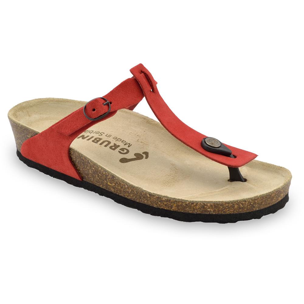MICADO bőr női strandpapucsok (36-42) - piros, 37
