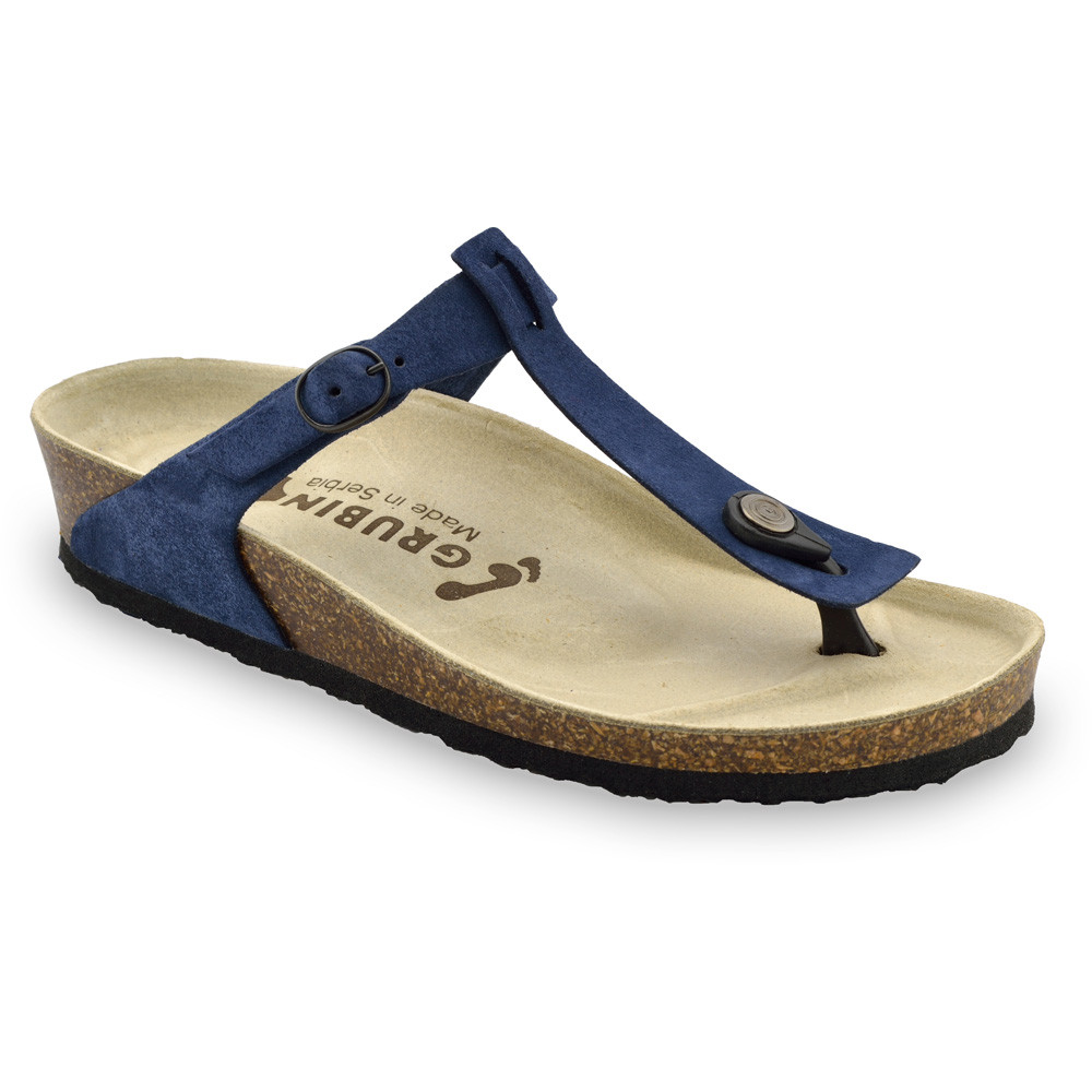 MICADO bőr női strandpapucsok (36-42) - kék, 39