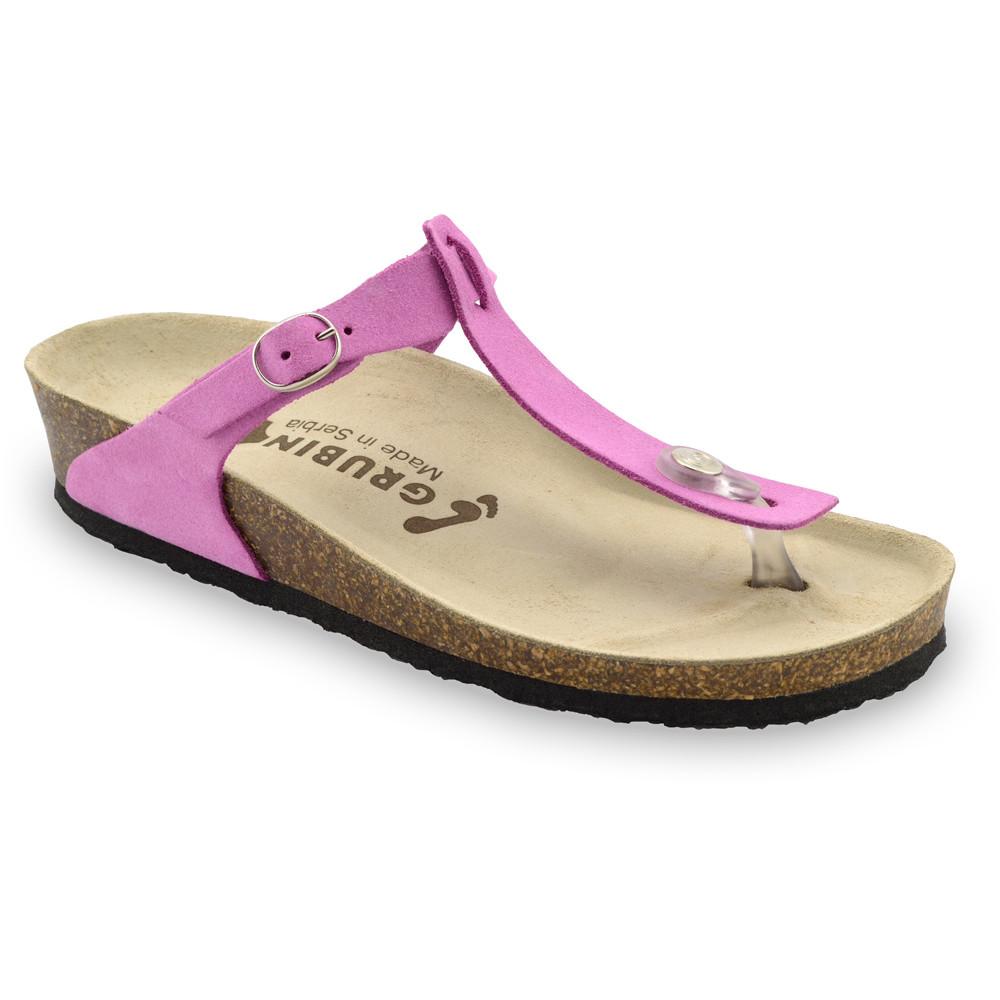 MICADO bőr női strandpapucsok (36-42) - rózsaszín, 42