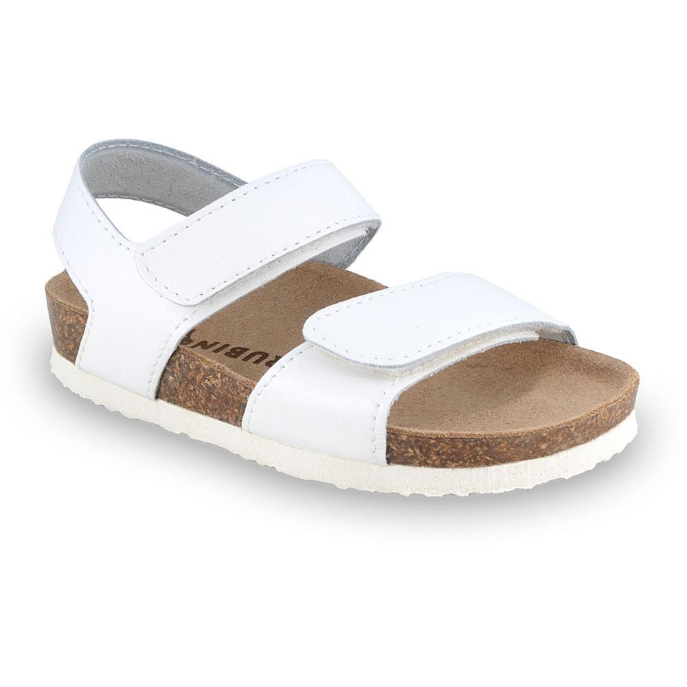 DIONIS gyerek szandálok - bőr (23-29) - fehér, 25