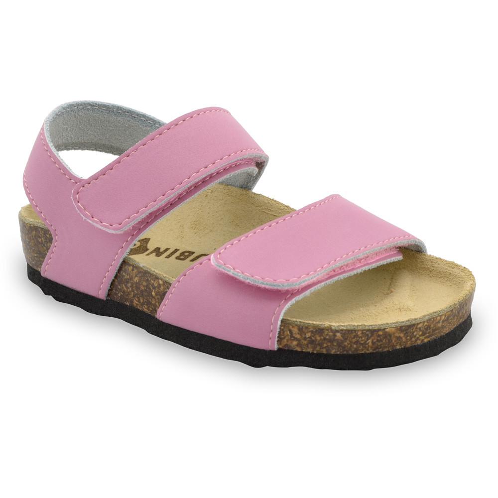 DIONIS gyerek szandálok - bőr (23-29) - rózsaszín, 28