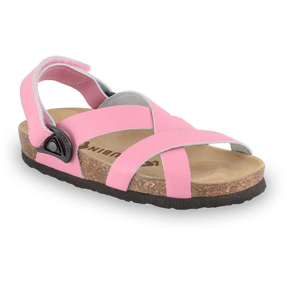 PITAGORA gyerek szandálok - nubuk - rostbőr (23-29) - rózsaszín, 28