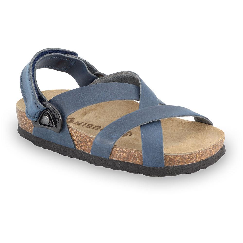 PITAGORA gyerek szandálok - nubuk - rostbőr (30-35) - kék, 30