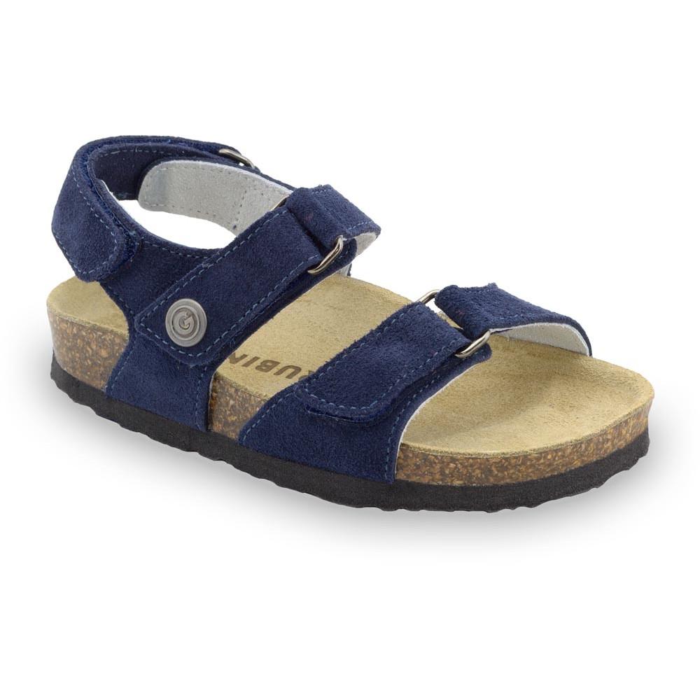 DONATELO gyerek szandálok - velúr (30-35) - kék matt, 35
