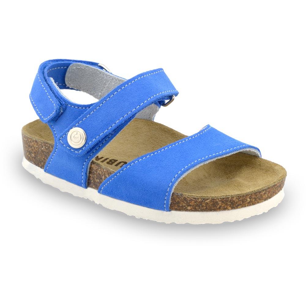 EJPRIL gyerek szandálok - nubuk bőr (23-29) - kék, 28