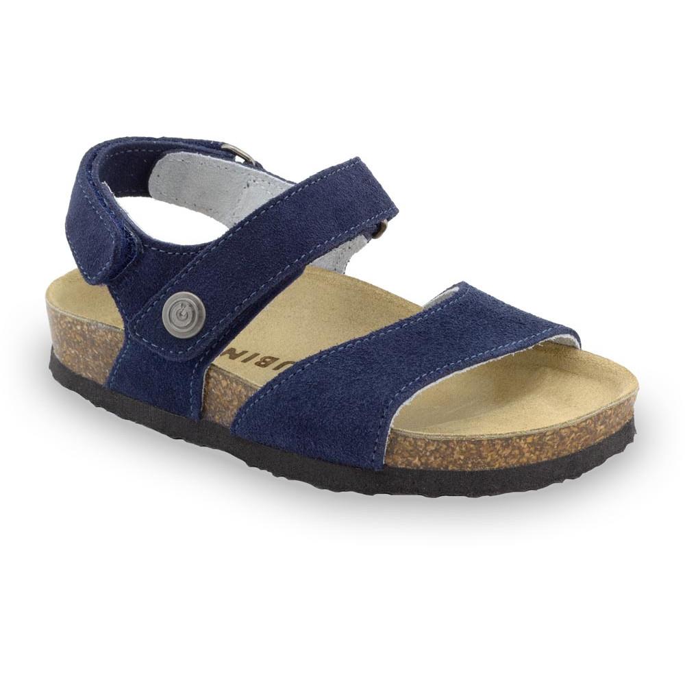 EJPRIL gyerek szandálok - nubuk bőr (30-35) - kék matt, 31