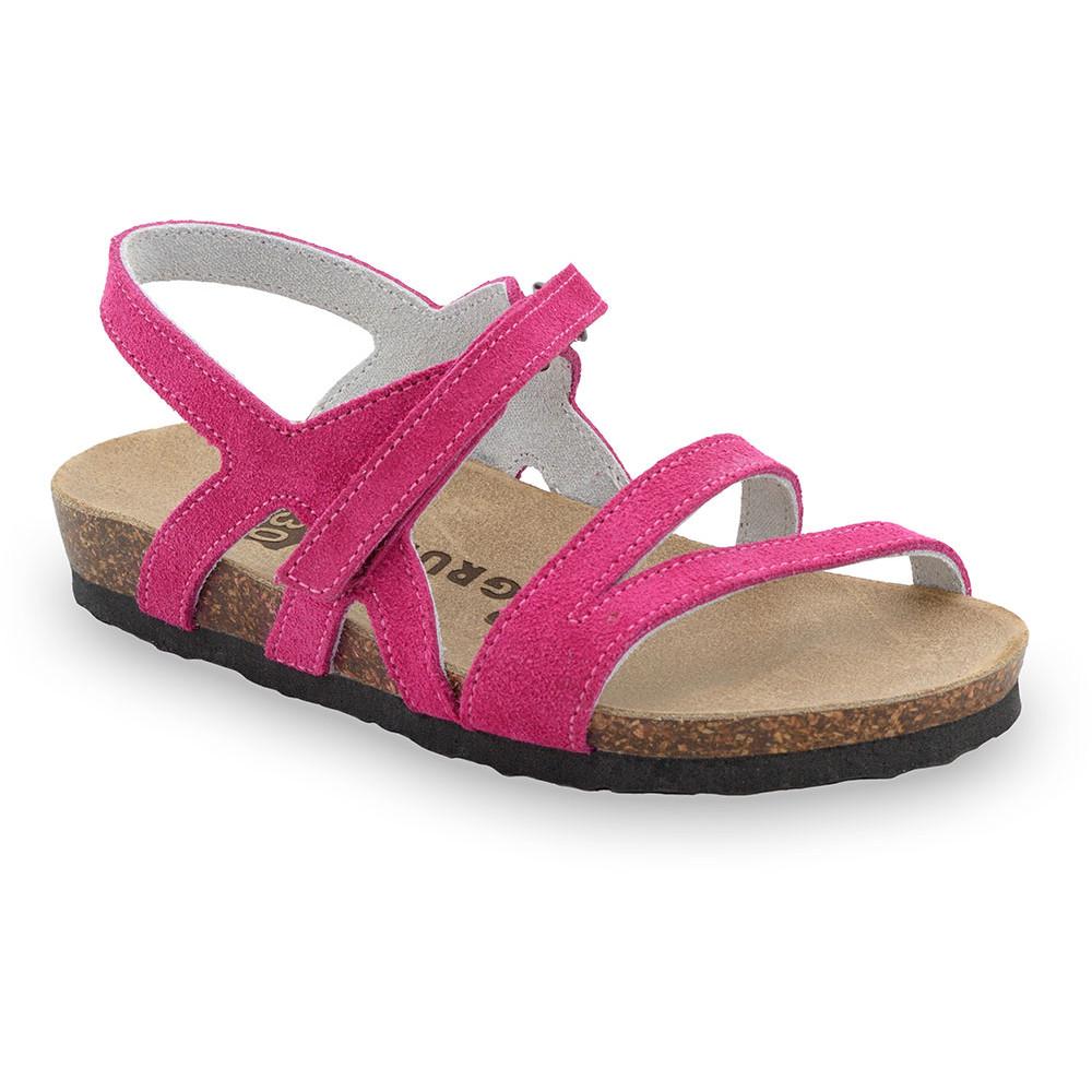 BELLE gyerek szandálok - bőr (30-35) - rózsaszín, 30