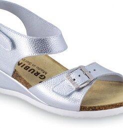 MANAMA | dámske anatomické sandále  | strieborné